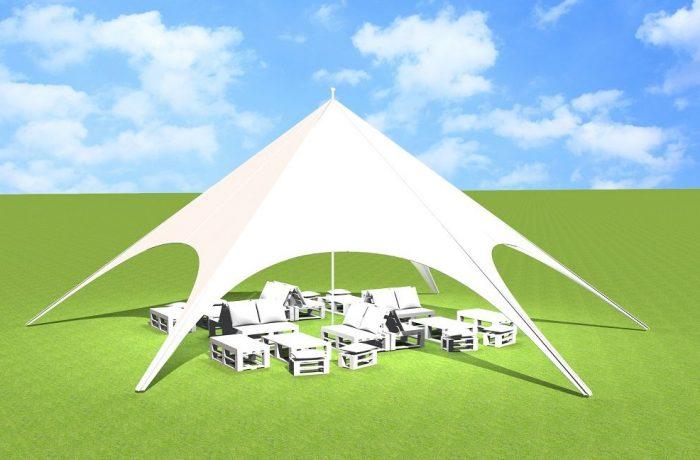 Aranżacja na 30 osób z namiotem